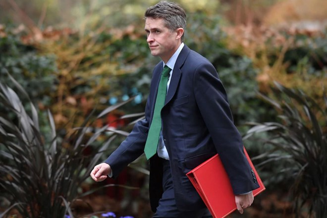 Education Secretary Gavin Williamson arrives at Downing Street for a cabinet meeting. (Justin Tallis/AFP/Getty Images)