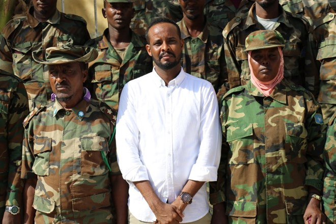 SUPPLIED: Dahir Ali with Somali National Army Soldiers