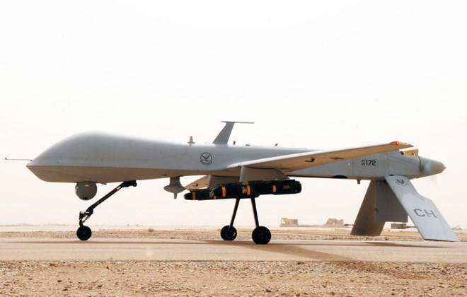 A military drone. (Getty Images)