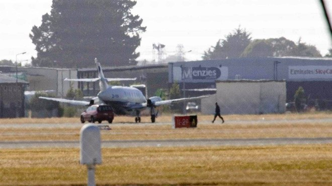 Air National Jetstream plane, which landed in Christchurch after being hijacked by Asha Abdille on February 8, 2008.JOHN MCCOMBE