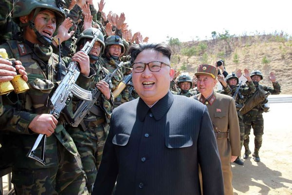 North Korean leader Kim Jong-Un on April 15, 2017 oversaw a special forces commando operation as tensions soar with Washington over Pyongyang's nuclear programme. PHOTO | AFP