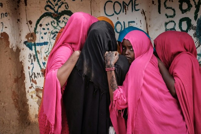 Young Somali refugee women stand together at Dadaab, one of the biggest refugee bases in the world. AFP/File/Yasuyoshi CHIBA